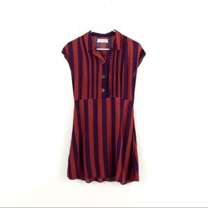 Urban Outfitters Red Purple Striped Mini Dress